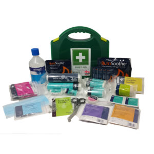 I100050 1-10 Person First Aid Kit Burns Eyewash 500ml Guardian Fire (002)